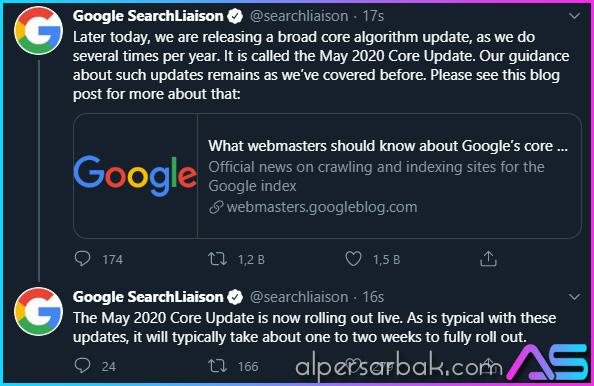 google güncelleme, google çekirdek güncelleme, google core update,