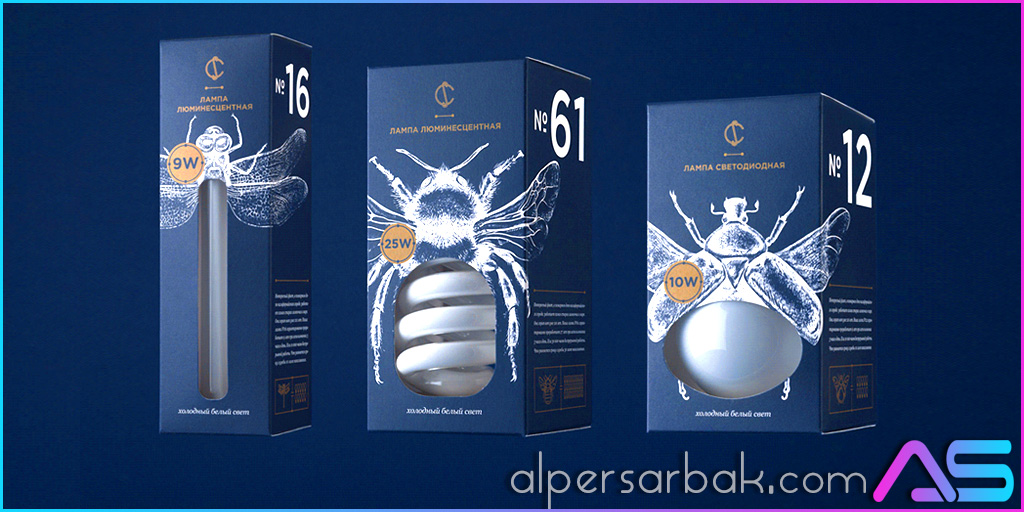 yaratıcı ampul ambalajı tasarımı, yaratıcı ampul kutusu tasarımı, ilginç ampul kutusu,